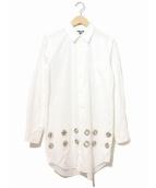 BLACK COMME des GARCONS(ブラックコムデギャルソン)の古着「ハトメロングシャツ」|ホワイト