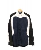 NEIL BARRETT(ニールバレット)の古着「ストレッチ加工デザインシャツ」 ブラック