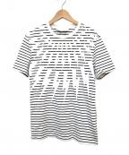 NEIL BARRETT(ニールバレット)の古着「サンダーボルトボーダーTシャツ」 ホワイト
