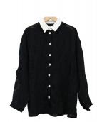 Devastee(ディバステ)の古着「レースシャツ」 ブラック