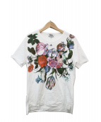 Vivienne Westwood man(ヴィヴィアンウエストウッドマン)の古着「オーブ刺繍フラワープリントTシャツ」 ホワイト