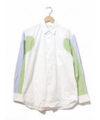 COMME des GARCONS SHIRT(コムデギャルソンシャツ)の古着「スリーブ切替シャツ」|ホワイト