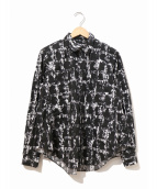 BLACK COMME des GARCONS(ブラックコムデギャルソン)の古着「総柄シャツ」|ブラック