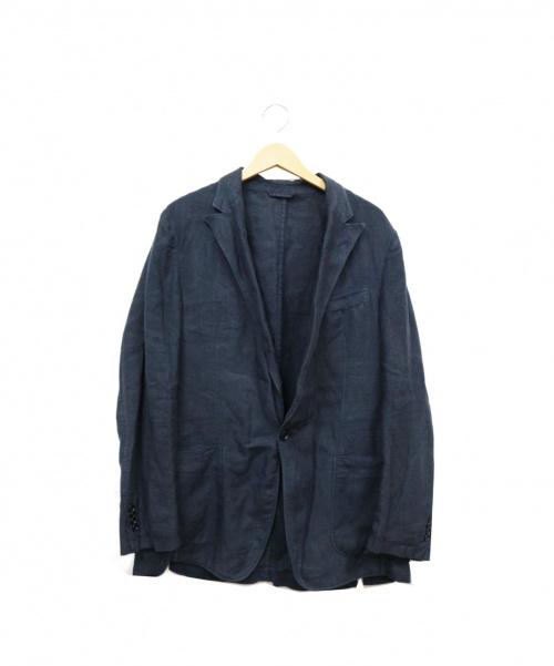 Z Zegna(ジー・ゼニア)Z Zegna (ジー・ゼニア) リネンジャケット ネイビー サイズ:M リネン100%の古着・服飾アイテム
