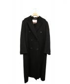 LUXORIAMODA(ルクスリアモダ)の古着「カシミヤダブルロングコート」|ブラック