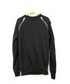 DIESEL(ディーゼル)の古着「ジップデザインスウェット」 ブラック