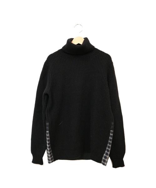 N°21(ヌメロ ヴェントゥーノ)N°21 (ヌメロ ヴェントゥーノ) タートルネックニット ブラック サイズ:46の古着・服飾アイテム