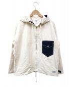 ()の古着「フーデッドジャケット」 ホワイト