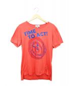Vivienne Westwood man(ヴィヴィアン ウェストウッド マン)の古着「ミニオーブ刺繍Tシャツ」|オレンジ
