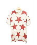 Vivienne Westwood man(ヴィヴィアンウエストウッドマン)の古着「スタープリントオーブ刺繍ポロシャツ」|ベージュ