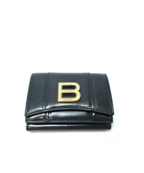 BALENCIAGA(バレンシアガ)BALENCIAGA (バレンシアガ) 3つ折り財布 ブラック 600212 1000 V1317の古着・服飾アイテム