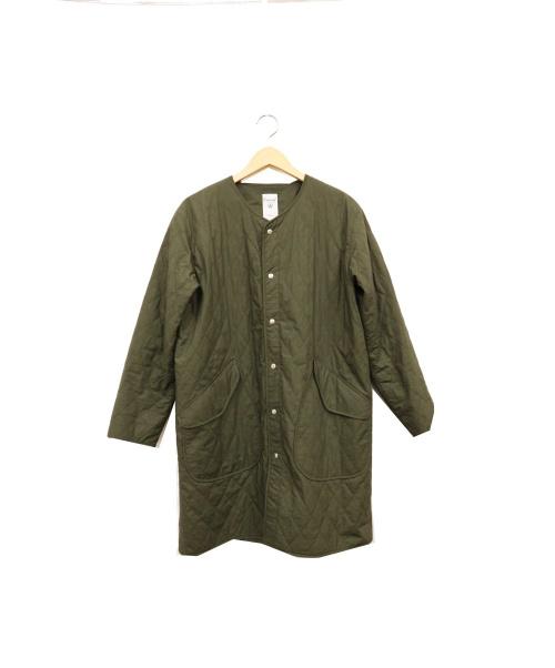 ORCIVAL(オーシバル)ORCIVAL (オーシバル) キルティングノーカラーコート カーキ サイズ:2の古着・服飾アイテム