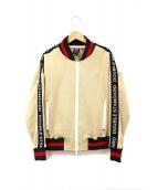DOUBLE STANDARD CLOTHING(ダブルスタンダードクロージング)の古着「ロゴテープ袖ブルゾン」|ブラウン