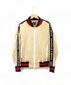 DOUBLE STANDARD CLOTHING(ダブルスタンダードクロージング)の古着「ロゴテープ袖ブルゾン」 ブラウン