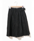 N°21 numero ventuno(ヌメロヴェントゥーノ)の古着「ウェストリボンチュールレーススカート」|ブラック