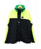 DIESEL(ディーゼル)の古着「リフレクターカラーブロックジャケット」|イエロー×ブラック