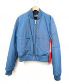 LOVE MOSCHINO(ラブモスキーノ)の古着「MA-1ジャケット」 ブルー
