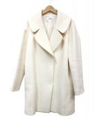 courreges(クレージュ)の古着「ダブルチェスターコート」|ホワイト