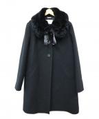Harrods(ハロッズ)の古着「レッキスファー付きコート」|ブラック