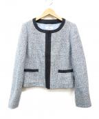 courreges(クレージュ)の古着「ツイードジャケット」|ブルー