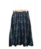 Place Departure(プレイスディパーチャ)の古着「刺繍ロングスカート」 ブラック