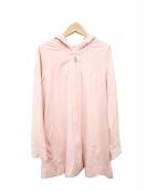 courreges(クレージュ)の古着「ロング丈ジャージーパーカー」 ピンク