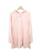 courreges(クレージュ)の古着「ロング丈ジャージーパーカー」|ピンク