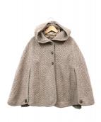 LEILIAN(レリアン)の古着「ポンチョ付中綿ジャケット」|ブラウン