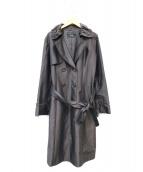 LEILIAN(レリアン)の古着「フリルトレンチコート」|グレー