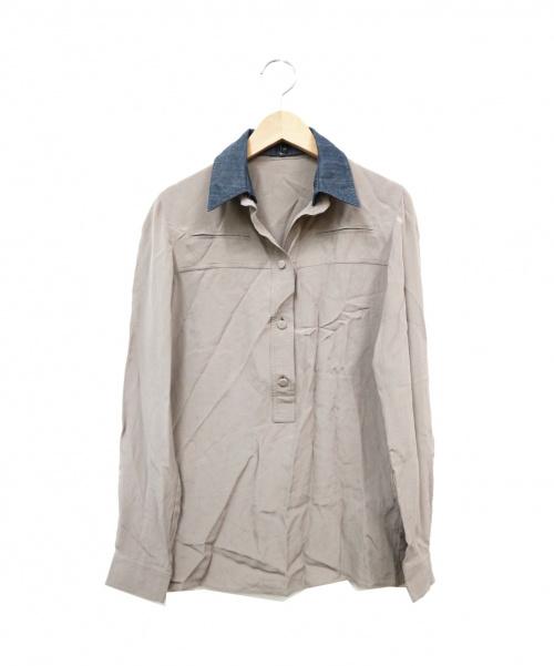 GUCCI(グッチ)GUCCI (グッチ) デニムカラーブラウス グレー サイズ:40 370706 ZES03の古着・服飾アイテム