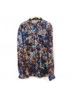 PROENZA SCHOULER(プロエンザ スクーラー)の古着「幾何学シルクプリントシャツ」|マルチカラー