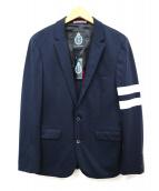GUILD PRIME(ギルドプライム)の古着「アームプリントテーラードジャケット」|ネイビー