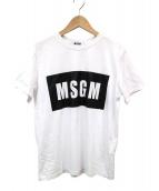 MSGM(エムエスジーエム)の古着「ロゴプリントTシャツ」|ホワイト