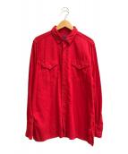 ()の古着「製品染めカラリーシャツ」 レッド