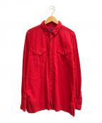 BRU NA BOINNE(ブルーナボイン)の古着「製品染めカラリーシャツ」|レッド
