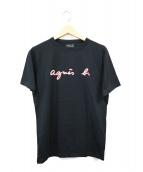 agnes b(アニエスベー)の古着「ロゴプリントTシャツ」|ブラック