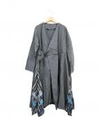 FRAPBOIS(フラボア)の古着「ミヤビドレスワンピース」 グレー