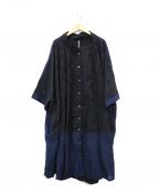 FRAPBOIS(フラボア)の古着「ドットジャガードマキシワンピース」 ブラック