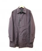 DURBAN(ダーバン)の古着「ライナー付ステンカラーコート」|パープル