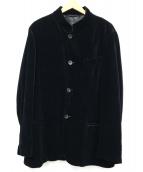 GIORGIO ARMANI(ジョルジオアルマーニ)の古着「ベロアジャケット」|ブラック