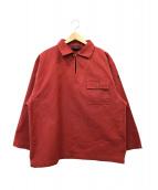 ()の古着「フィッシャーマンスモックシャツ」 レッド