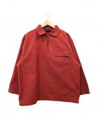 Le minor(ルミノア)の古着「フィッシャーマンスモックシャツ」 レッド