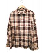 ()の古着「ドレスゴードンカジュアルシャツ」|ブラウン