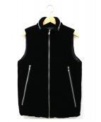 junhashimoto(ジュンハシモト)の古着「ベロア中綿ベスト」|ブラック