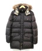 BURBERRY BLACK LABEL(バーバリーブラックレーベル)の古着「ホワイトグースダウンコート」|ブラウン
