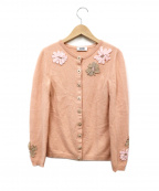 MOSCHINO(モスキーノ)の古着「カシミヤ混カーディガン」|ピンク