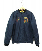 SCOTCH & SODA(スコッチアンドソーダ)の古着「中綿ボンバージャケット」|ネイビー