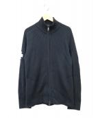 VICTORINOX(ビクトリノックス)の古着「ロゴ入ニットジャケット」|ブラック