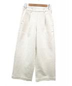 Pao.de.lo(パオデロ)の古着「ジャズネップワイドデニムパンツ」|ホワイト