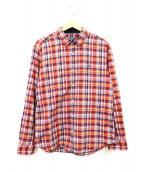 BLACK LABEL CRESTBRIDGE(ブラックレーベルクレストブリッジ)の古着「チェックシャツ」 オレンジ